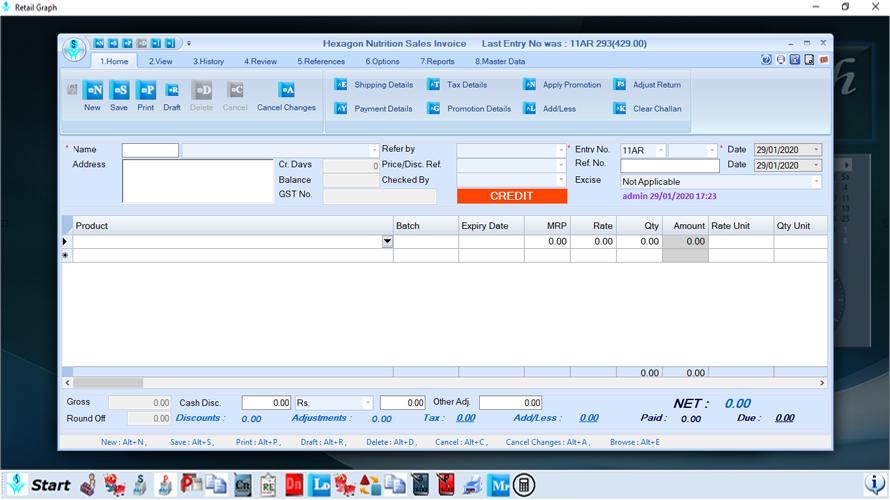 RetailGraph invoices