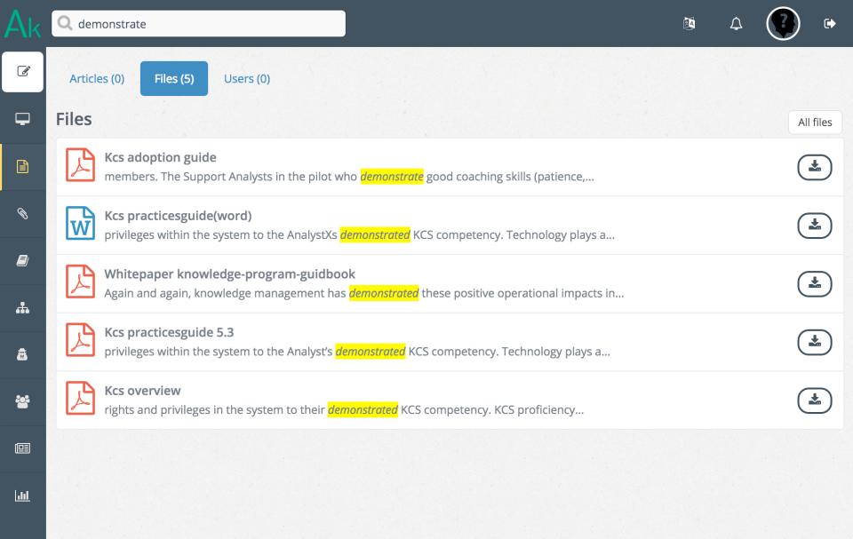 Search through articles & files with omnisearch