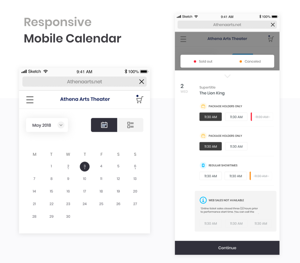 Allow patrons to easily browse events and buy tickets with our mobile responsive calendar and interface.