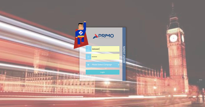 Primo Dialler Software - Login