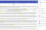 Lexbe eDiscovery Platform screenshot: The Lexbe Hits View Shows Your Keywords Wrapped in 50 Words for Rapid Contextual Review