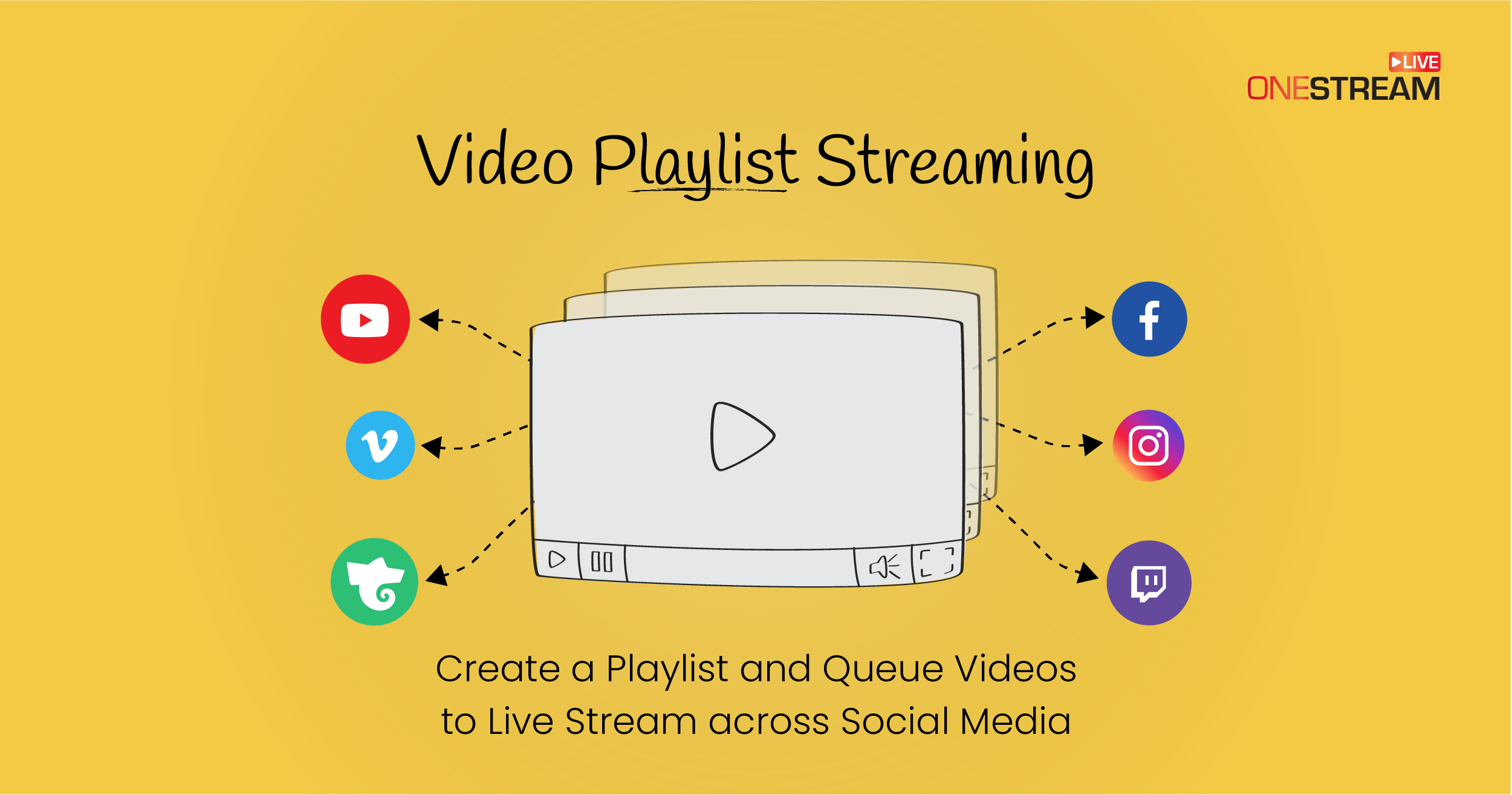 Queue and create playlist for your pre-recorded video streaming.