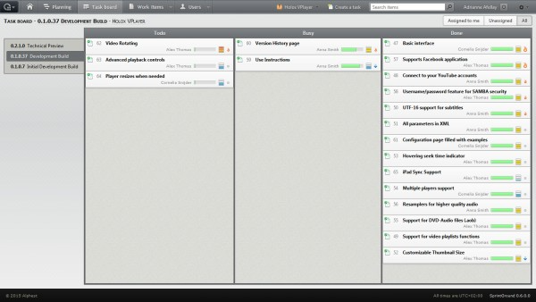 SprintGround includes Kanban boards, alongside burndown charts and other tools