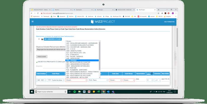 WIZZCAD document management screenshot