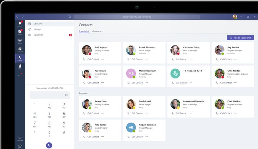 Microsoft Teams Software - Microsoft Teams contacts