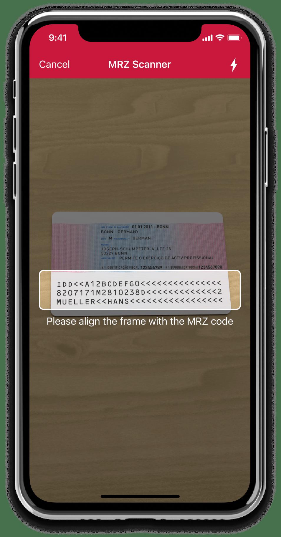 Scanbot SDK MRZ Scanner