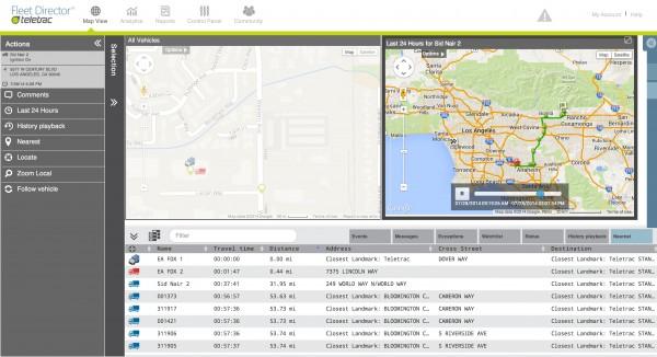 Teletrac - Map View tab