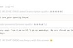 Yodel screenshot: Yodel automated call answering