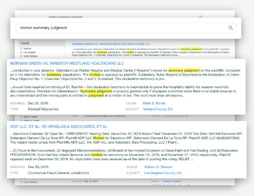 Trellis.law Software - Find Case-Winning Rulings