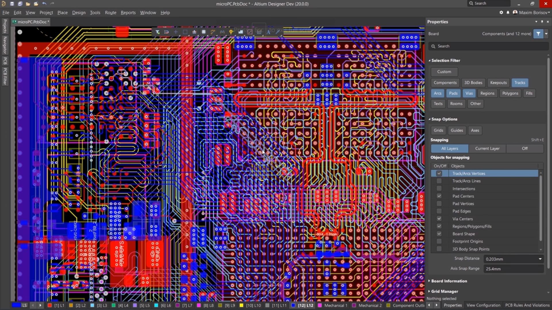 Altium Designer track layers