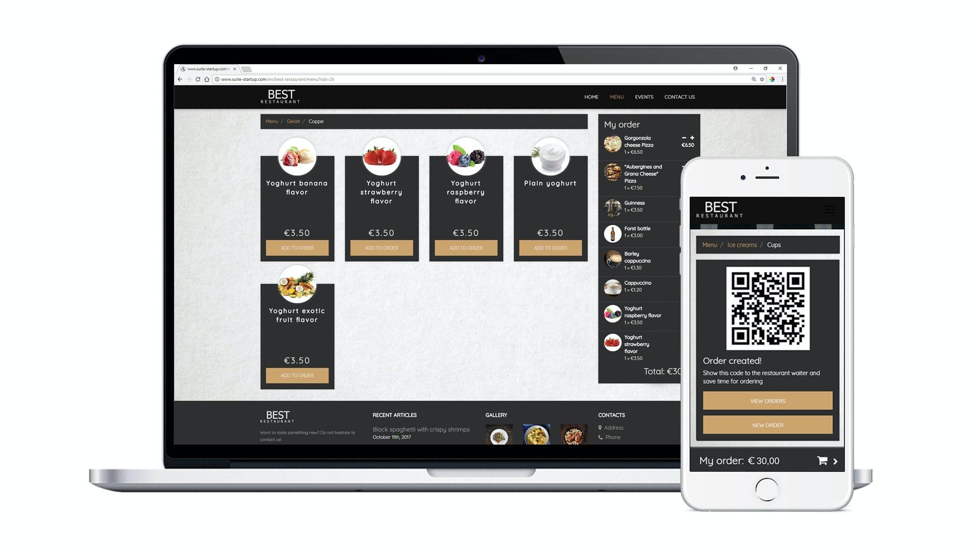Suite 4 Software - Online ordering