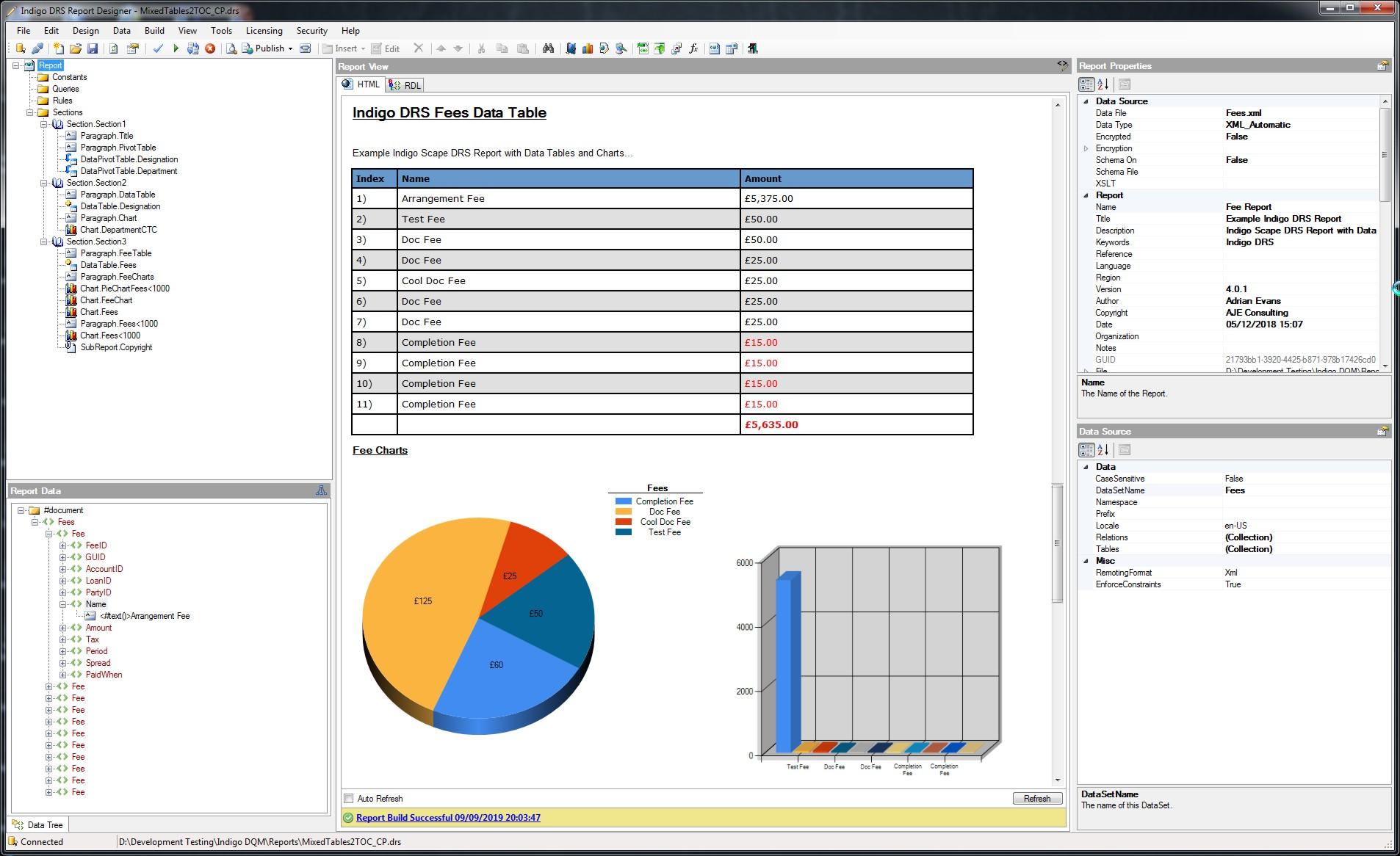 Indigo DRS Report Designer