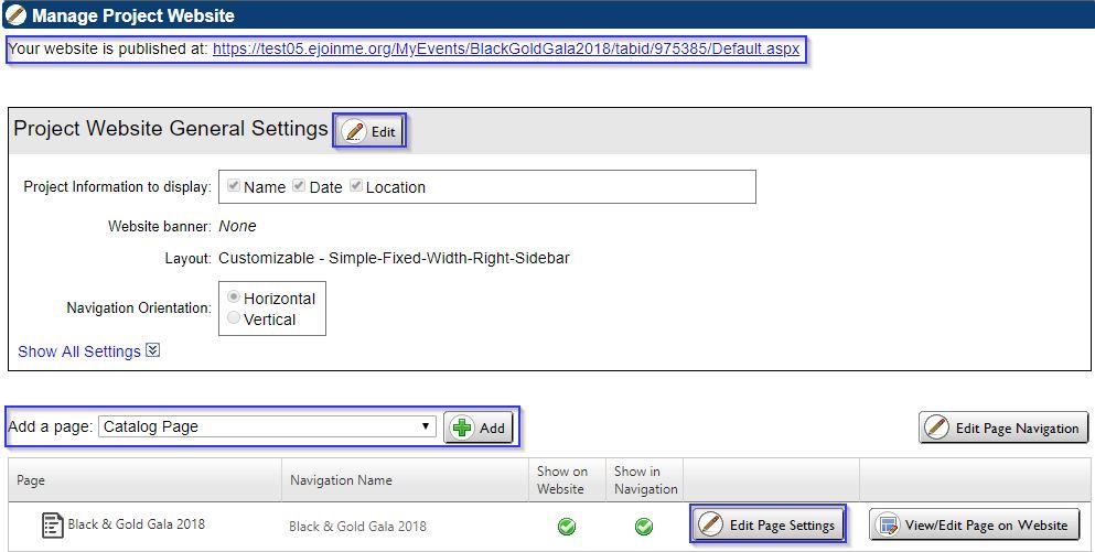 Greater Giving Event Software website creation screenshot