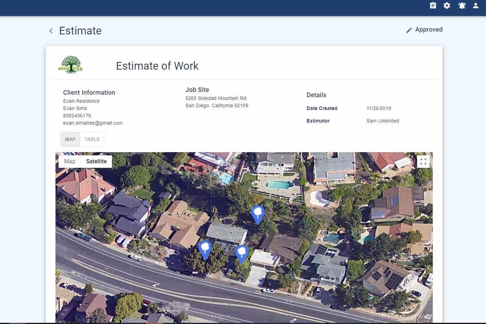 TreePlotter JOBS estimate preview