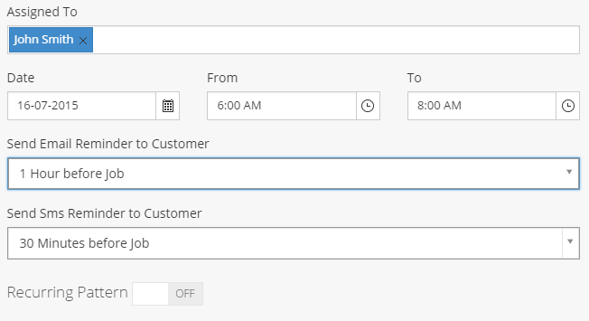 Recieve email and SMS reminders with Call of Service