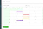 PayrollPanda screenshot: Team calendar view