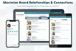 Boardable screenshot: Board members volunteer time and energy on top of their careers (and personal lives) to help your organization thrive. That can leave little time for everyone to connect with each other. That's why we made the People Directory.