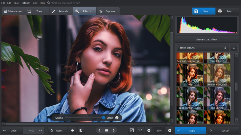 PhotoWorks Software - PhotoWorks apply effects