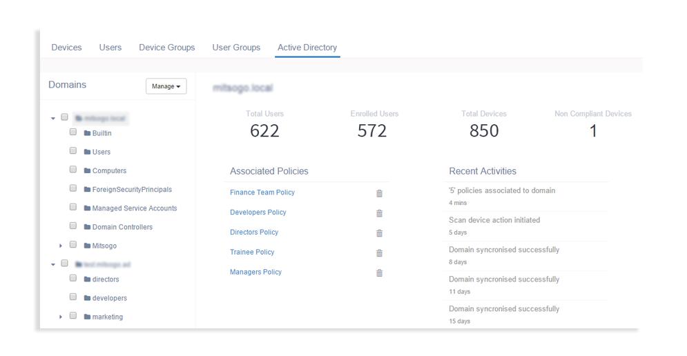 Hexnode active directory