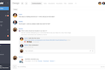 Stackfield Screenshot: Team chat: stream, which contains all changes of all modules