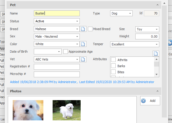 PetLinx pet database