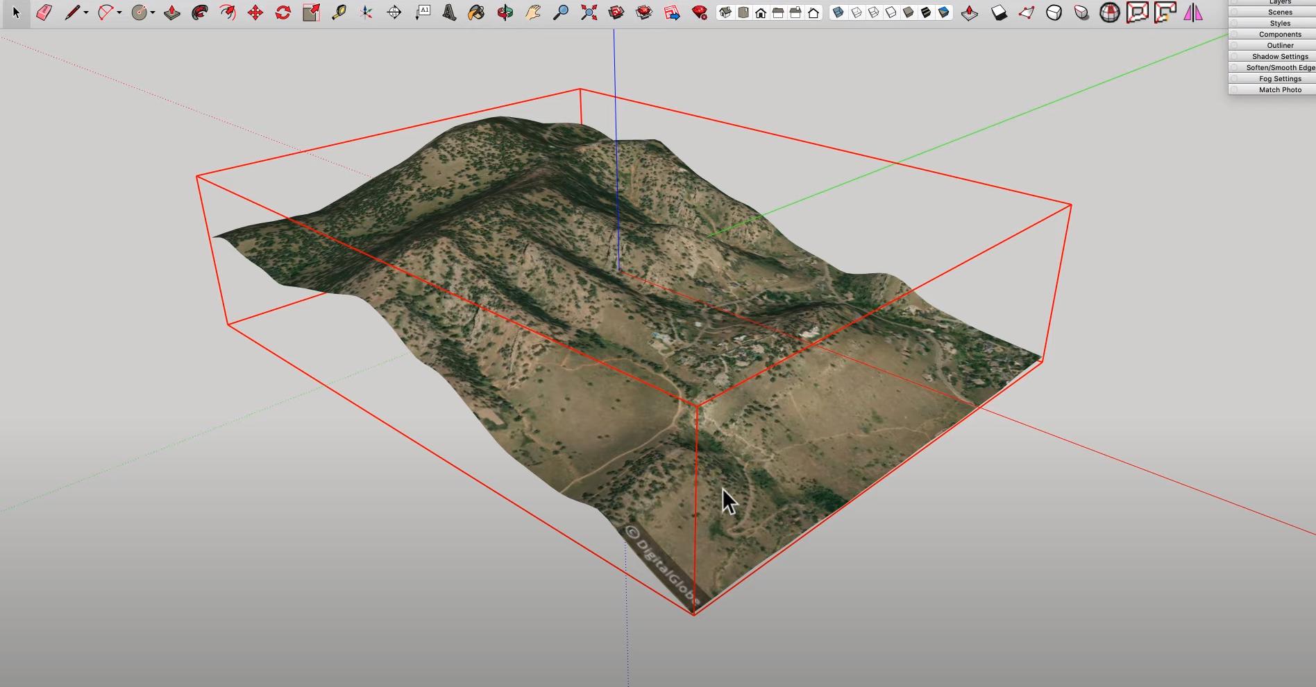 SketchUp Software - SketchUp landscape contouring