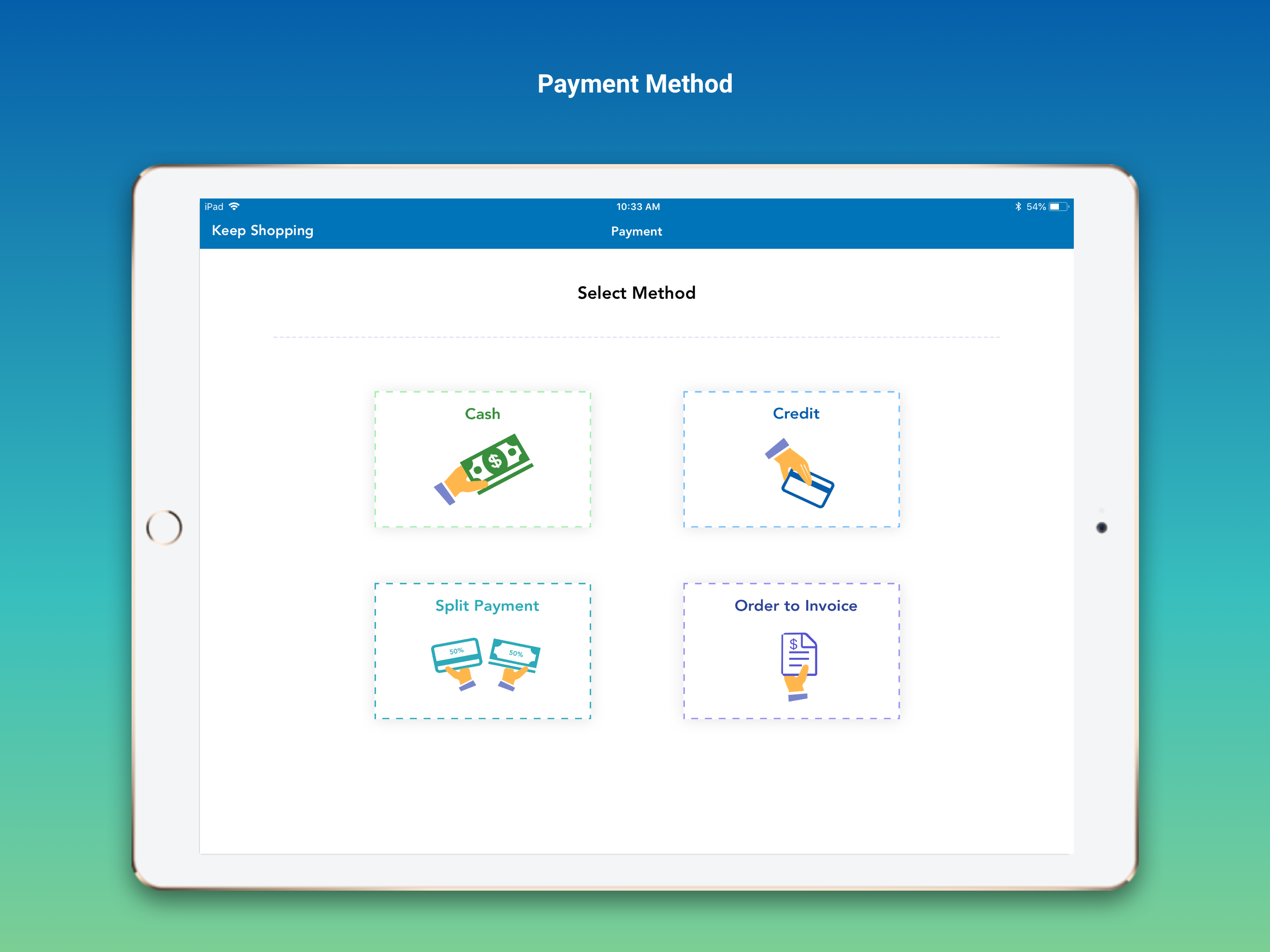 Systum payment method screenshot