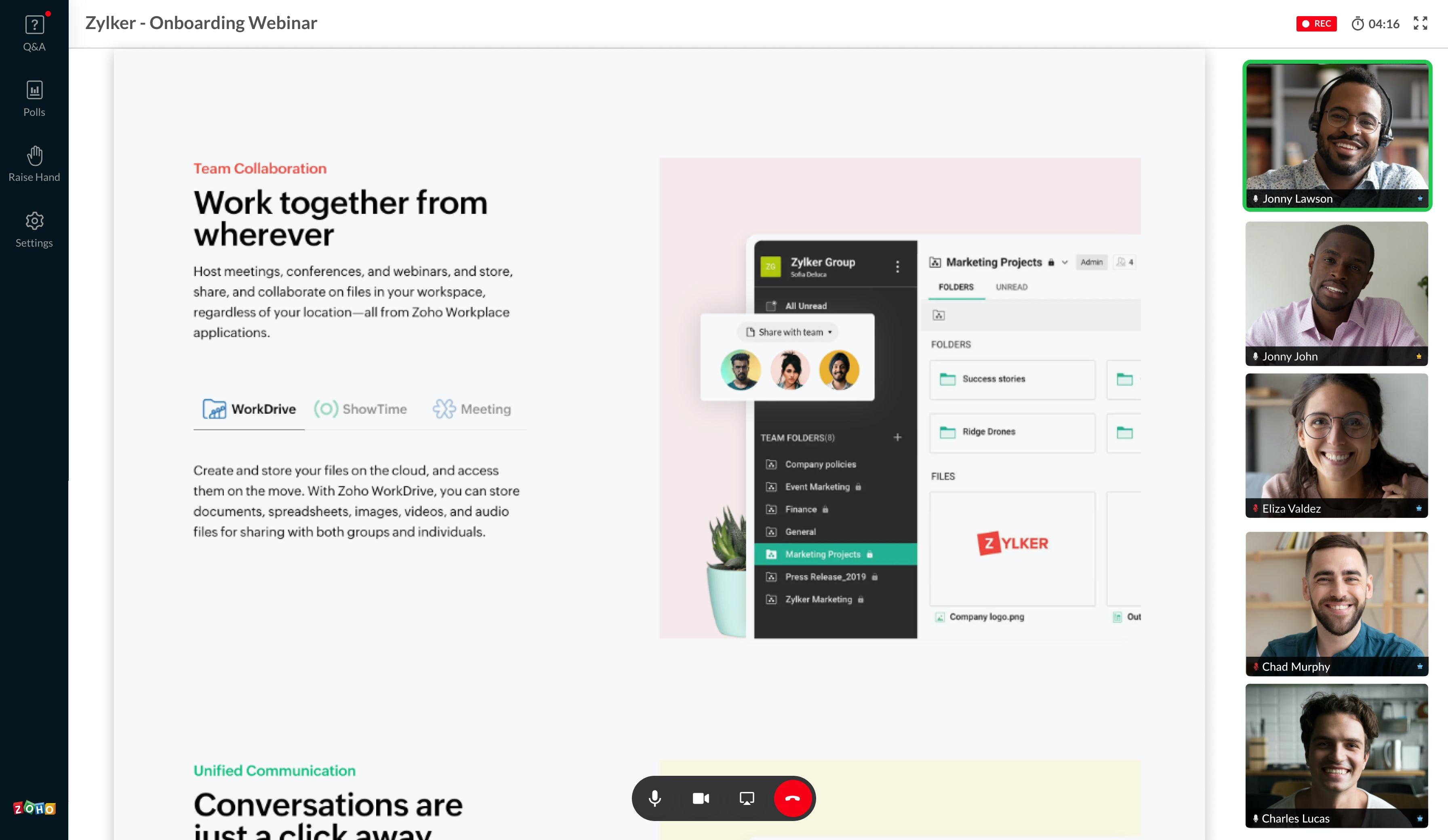 Zoho Meeting Software - 4