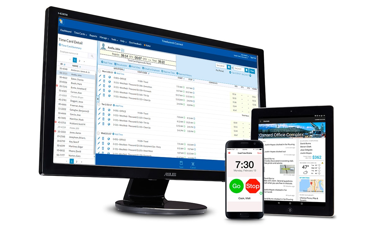 ExakTime Connect promises a web-based time and attendance tracking solution for managing a mobilized employee workforce