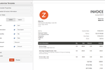 Zoho Invoice screenshot: Zoho Invoice - Customize Template