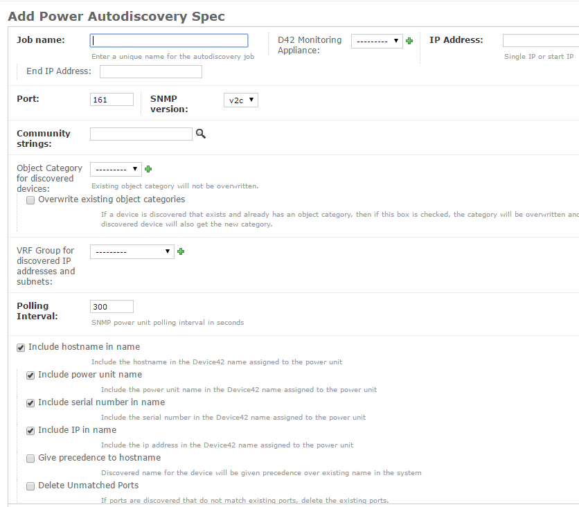 Device42 add power autodiscovery