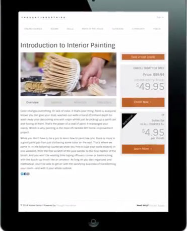 Users can also monetize the course content created using e-commerce integration features