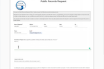 JustFOIA screenshot: Request Forms