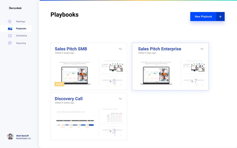 DemoDesk Playbooks