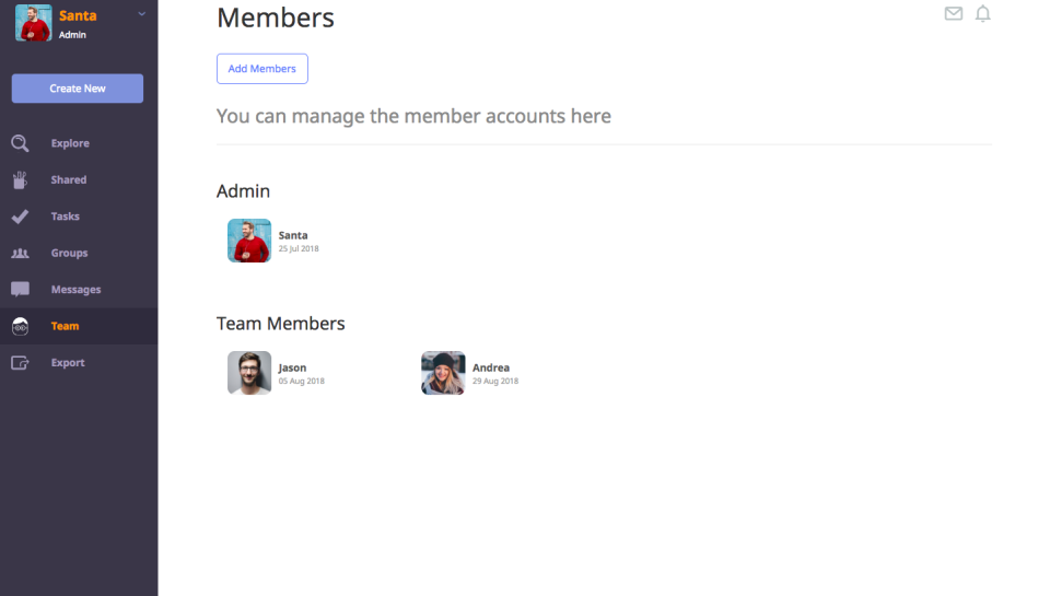 Add and manage team members, and manage workflows and collaboration, while maintaining custom permissions