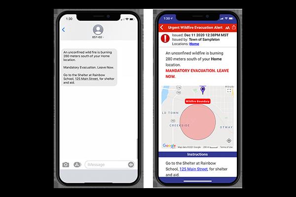 Voyent Alert! mobile interface