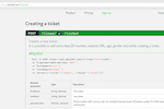 Qminder screenshot: Creating a new ticket by API integration with the webhook notification