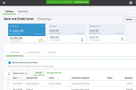 Quickbooks Online screenshot: Small businesses can track their banking and credit cards