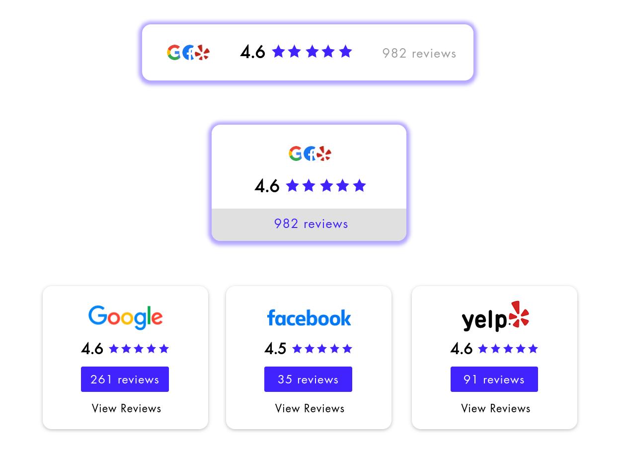 Customizable rating badges