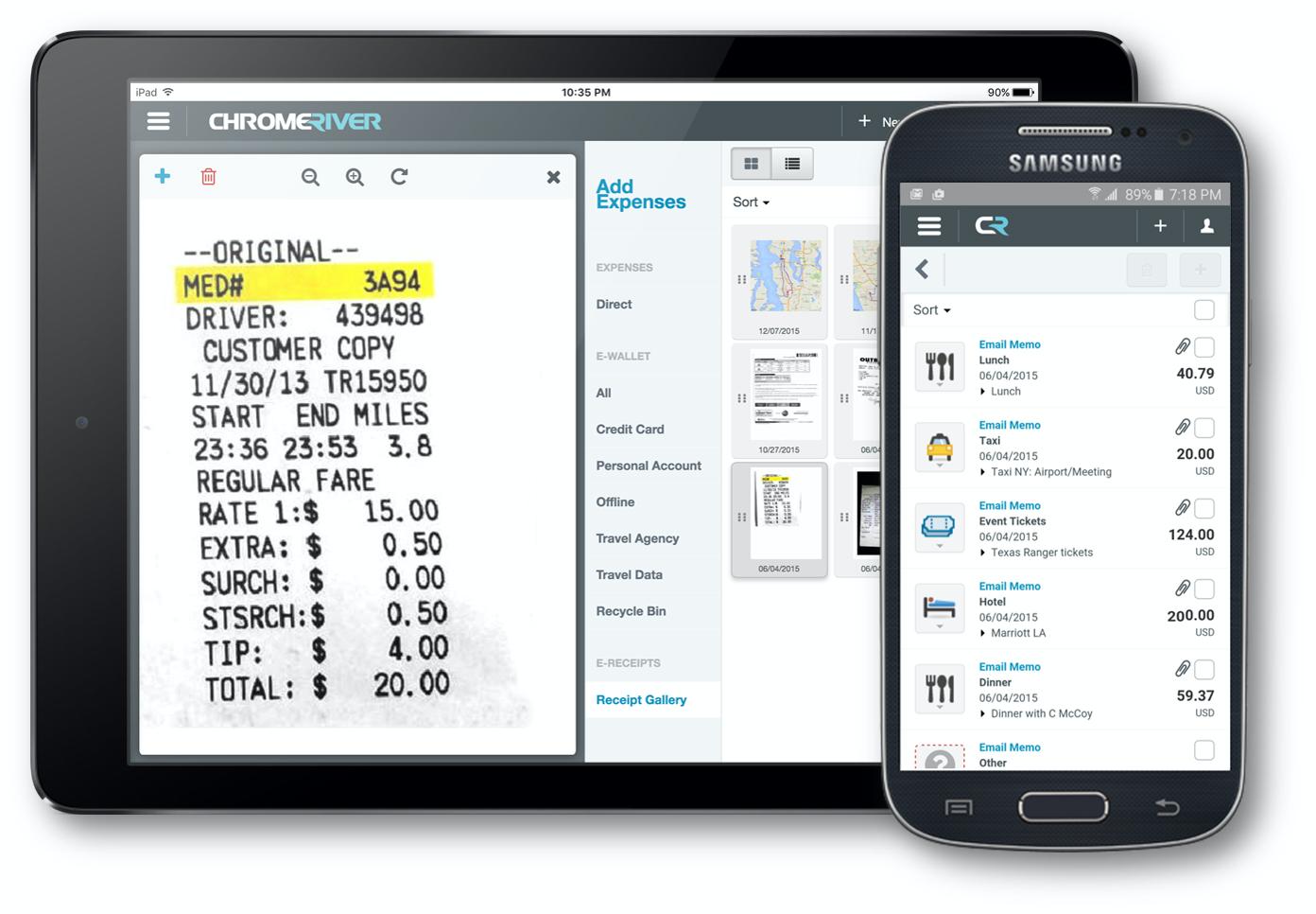 Emburse Chrome River Expense screenshot