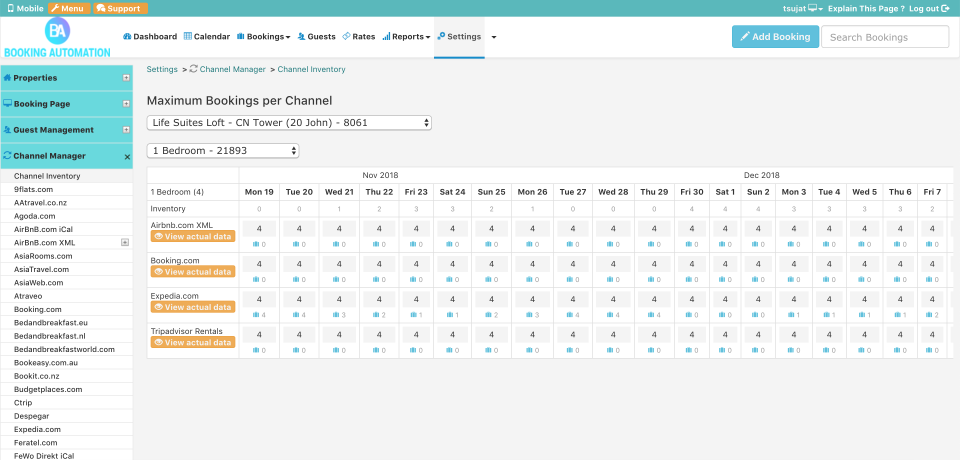 Booking Automation channel manager