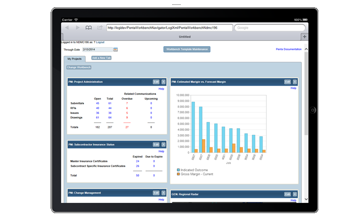 PENTA ERP Software - Mobile project management workbench
