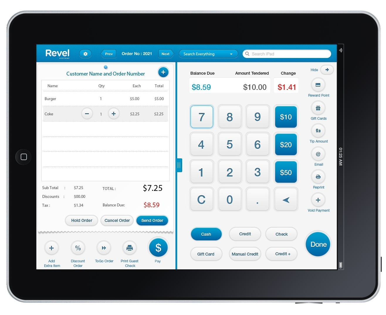 Revel Systems POS for iPad