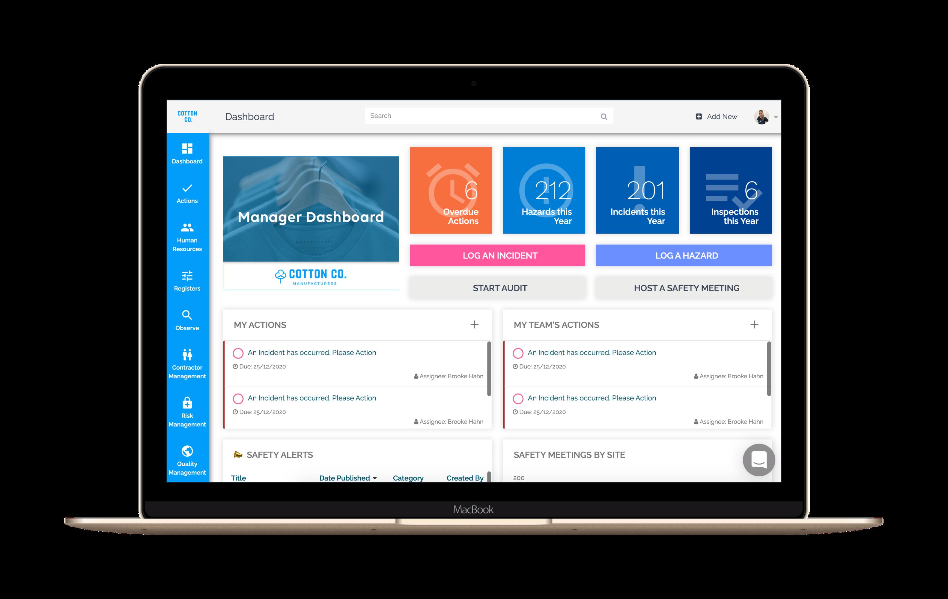 HSI Software - HSI Dashboard