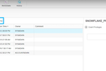 Snowflake screenshot: Snowflake - databases