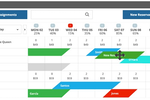 Cloudbeds screenshot: Reservations can be rescheduled by dragging-and-dropping on the calendar
