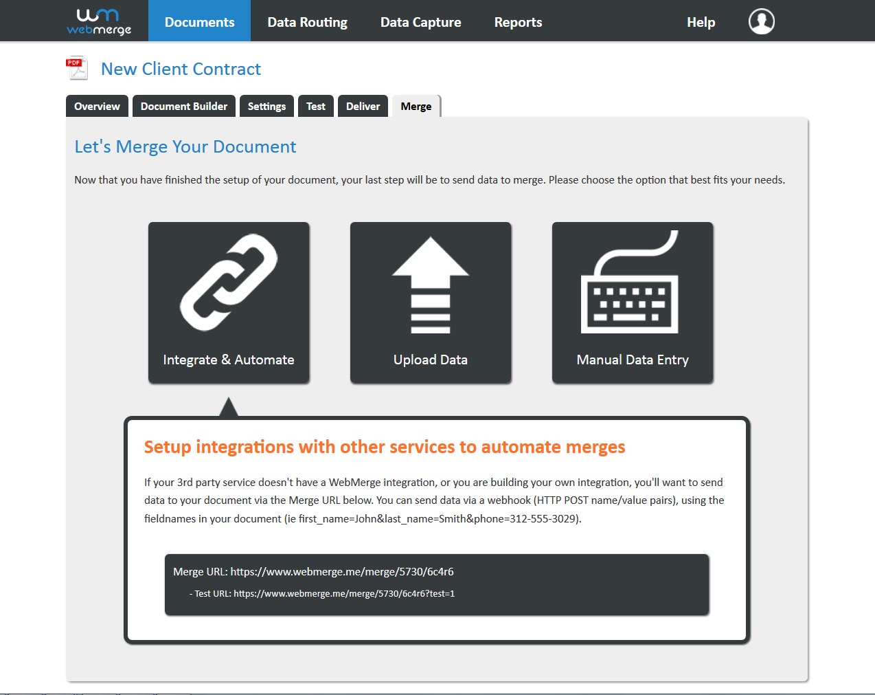 Merge your data into templates
