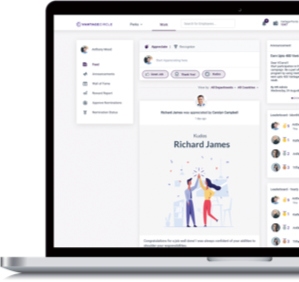 Automate and simplify your employee rewards and recognition program with Vantage Rewards easy-to-use and customizable cloud-based solution.