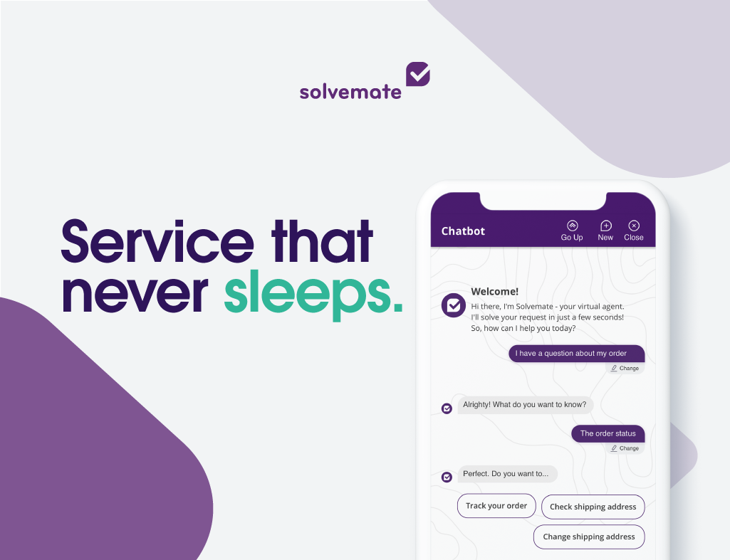 Solvemate screenshot: No matter the language, timezone or channel - Solvemate's chatbot is able to respond to every query 24/7 and find the right solution. Add your chatbot to your customers' favourite channels and support them with the power of automation.