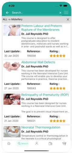 WCEA screenshot: WCEA available courses